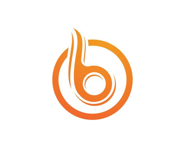 B-Buchstabe-Ikonen-Design-Vektor-Illustration.