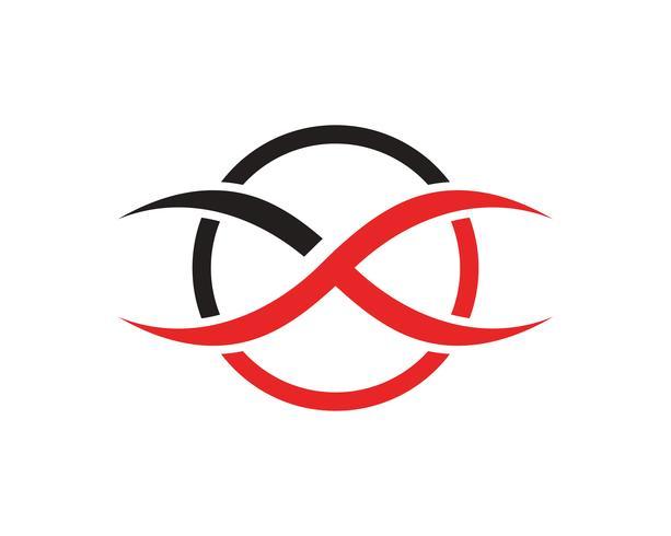 oneindigheidslogo symbool sjabloon iconen vector