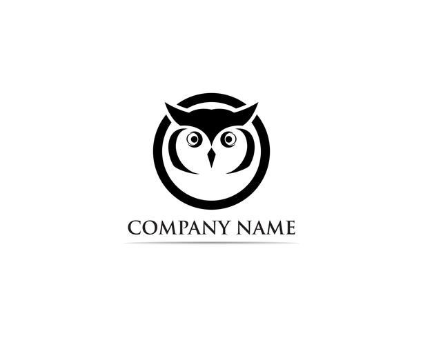 Owl logo bird vector illustrator