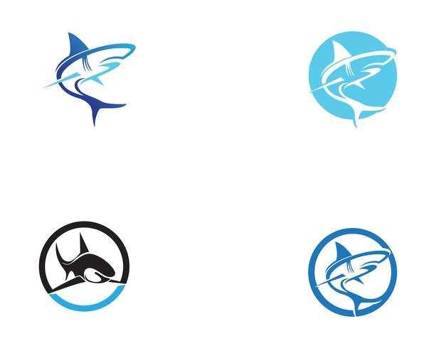 Tubarão peixe animais logotipo e símbolos vector