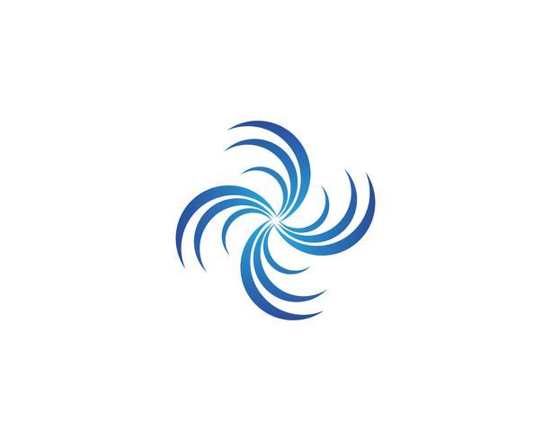Splash Water Wave Beach Logo und Symbol Vektor