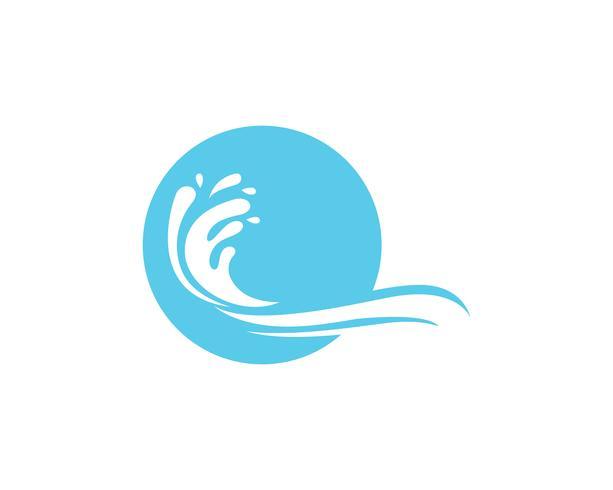 Onda praia logotipo e modelo de vetor de símbolos