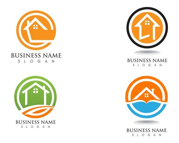 Einfache Home Logo Vorlage