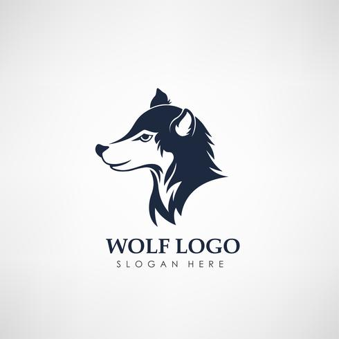 Wolf concept logo template. Label for hunting, company or organization. Vector illustration