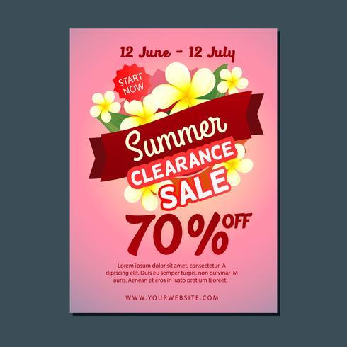 Verkauf Plakat Vorlage Sommer