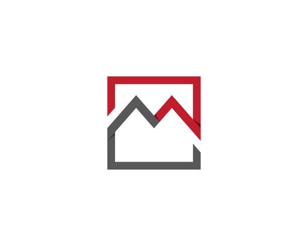 M Logo und Vektor-Illustration