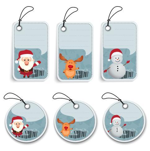 Weihnachtsaufkleber und -umbauten