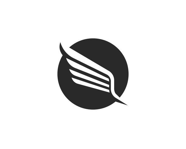ala de halcón logo plantilla vector icono diseño