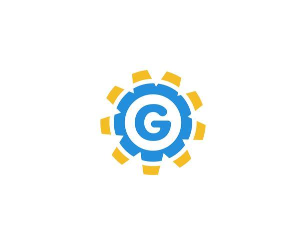 Gang G Logo Template-Vektorikonen-Illustrationsdesign