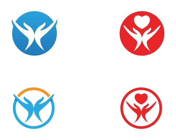 Handhjälplogotyper och symbolmallikoner