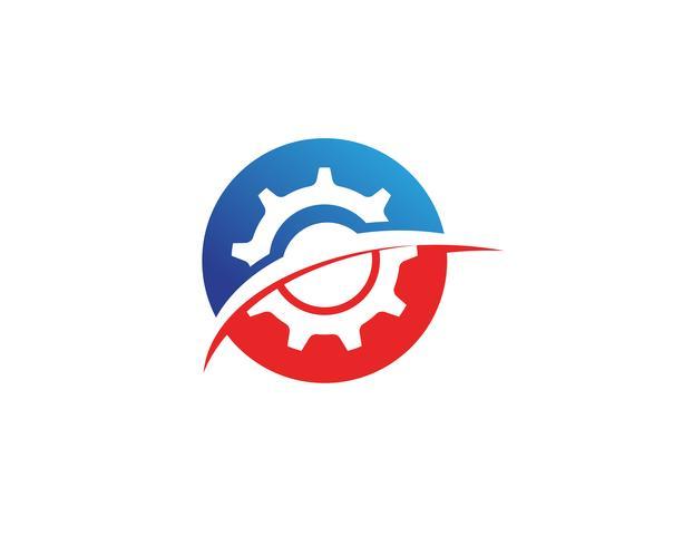 Progettazione dell'illustrazione dell'icona di vettore di Logo Template dell'ingranaggio