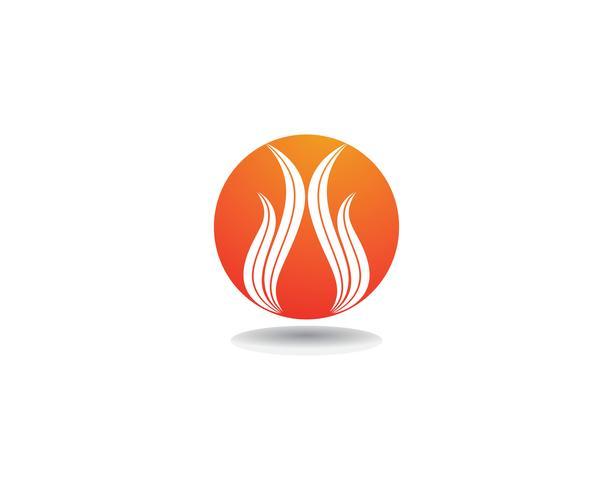 Feuer Logo Template-Vektorikone Öl-, Gas- und Energielogokonzept