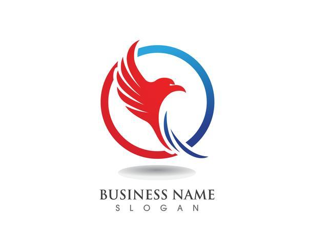 Eagle wing falcon logo och symboler mall vektor