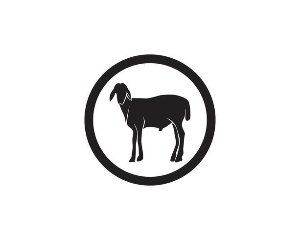 Gli animali neri della capra vector il modello di simboli e di logo