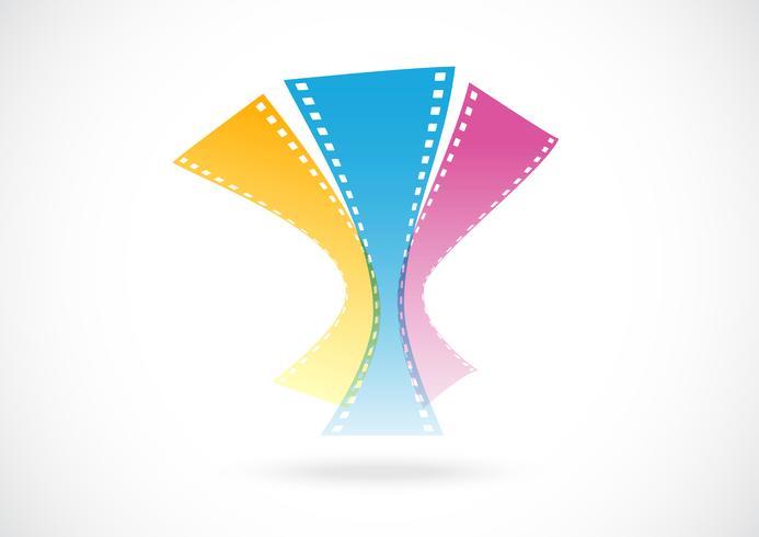 film abstrait logo abstrait