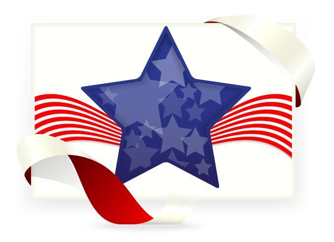 Bandera americana, Tarjetas de visita con lazo.