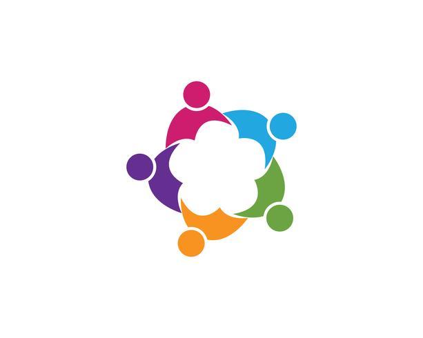Community People Group, Logo und soziale Symbol Entwurfsvorlage