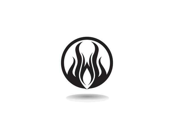 Icono de vector de plantilla de logotipo de fuego Concepto de logotipo de petróleo, gas y energía