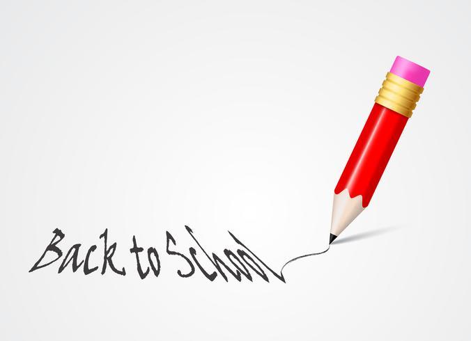 Zurück in die Schule mit bunten Bleistift