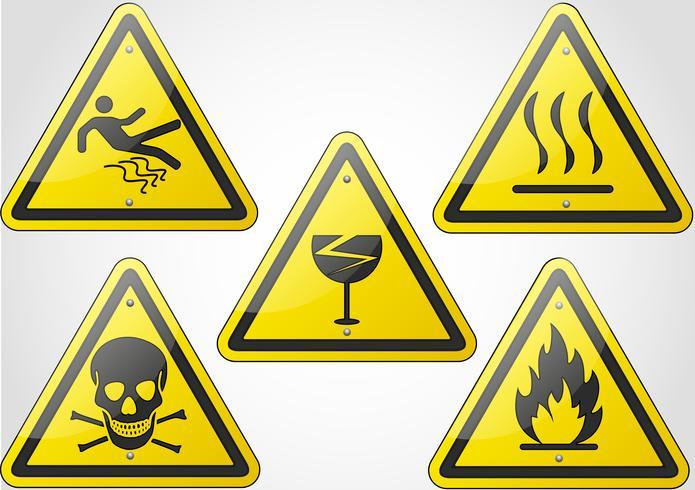 conjunto de señales de advertencia vector