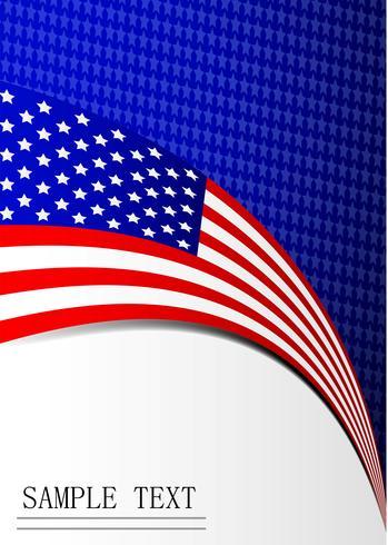 Vierter Unabhängigkeitstag des Amerika-Hintergrundflaggen-Kartenpapiers