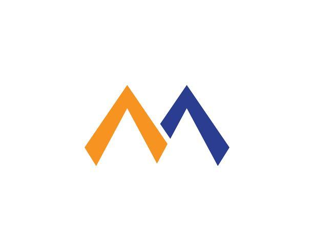 M logo e ilustración vectorial