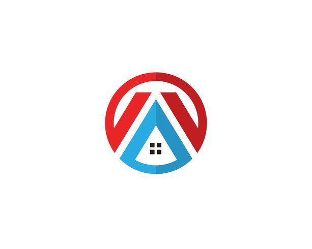 Plantilla de iconos de logotipo y símbolos de inicio