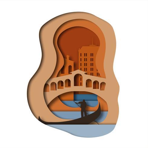 Venetië Kunststijl vector