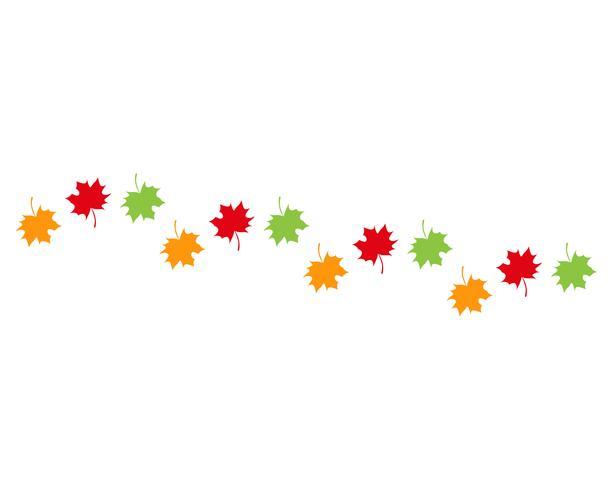 herfst blad vectorillustratie