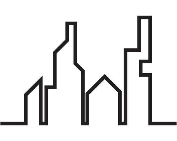 Moderne skyline van de stad. stadssilhouet. vectorillustratie in flat