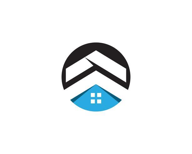modello di icone logo e simboli casa