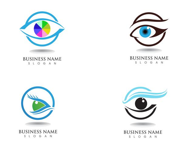 Eyes care health logo and symbols