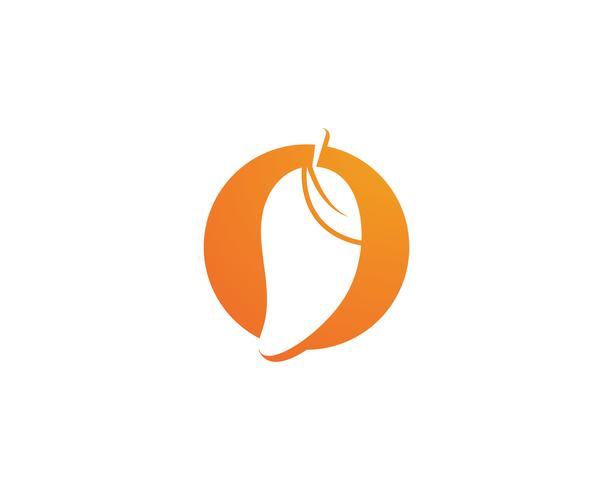 Mango fruits vector logo symbol
