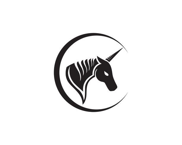 Paard hoofd zwarte Logo sjabloon Vector
