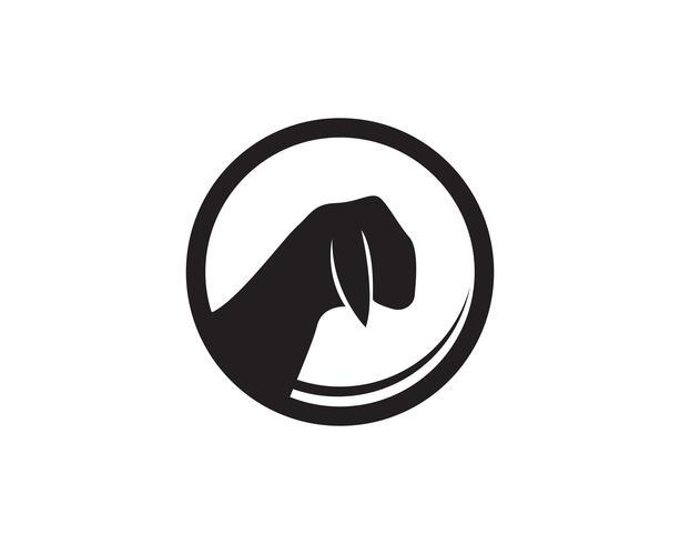 Vector y símbolo de vector de animales de cabra negro