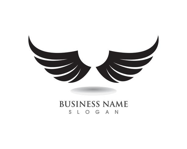 Eagle Wing Falcon-Logo und Symbolschablonenvektor