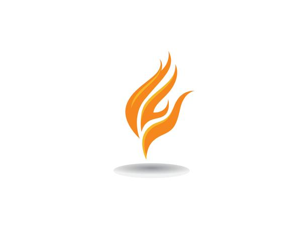 Fire Logo Template vector icon Concetto di logo di petrolio, gas ed energia