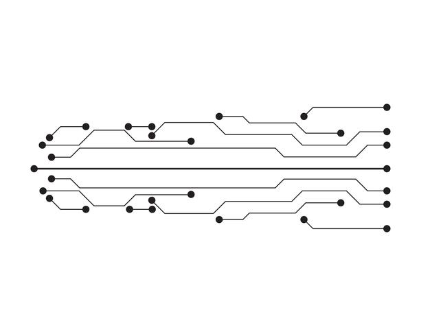 circuit illustration vector template line