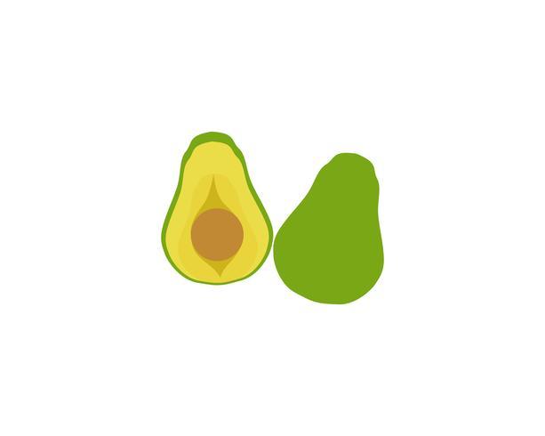 avocado vector sjabloonlogo