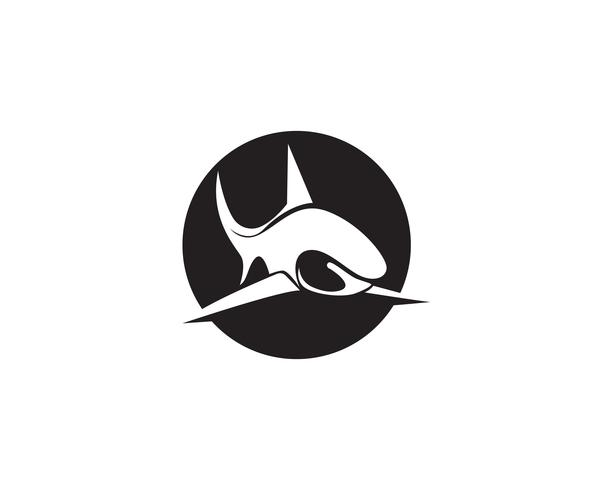 Shark vis dieren logo en symbolen vector