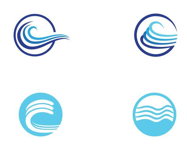 Wave beach logo en symbolen vector sjabloon