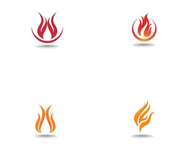 Brand logotyp Mall vektor ikon Koncept för olja, gas och energi
