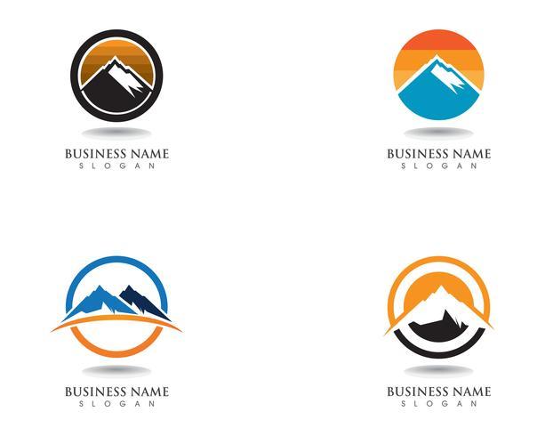 Mountain logotyp och symboler Business Mall Vector