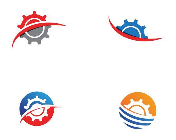 Diseño del ejemplo del icono del vector de la plantilla del logotipo del engranaje