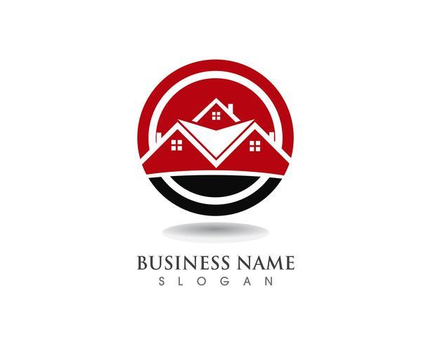 Plantilla de logotipo de casa simple