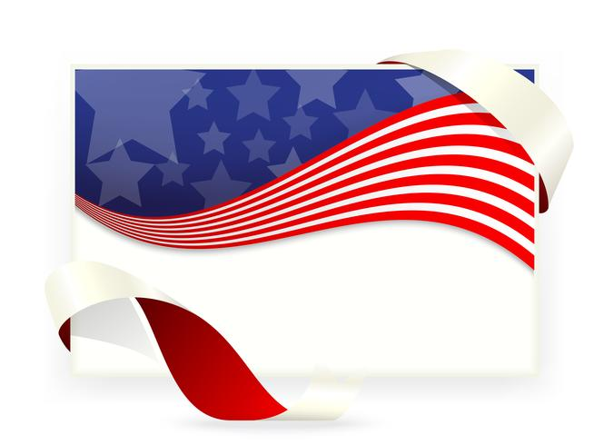 Independence day of American flag , Business cards vector