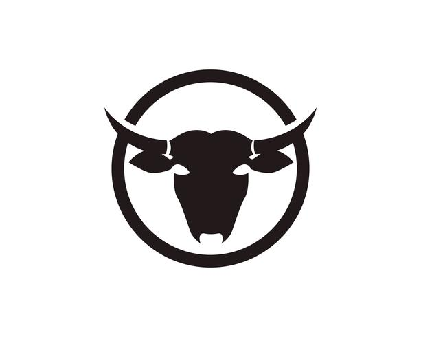 Koe hoofd symbolen en logo vector sjabloon