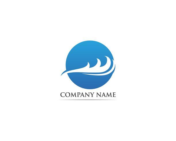 Ola de logotipo y vectores de símbolos