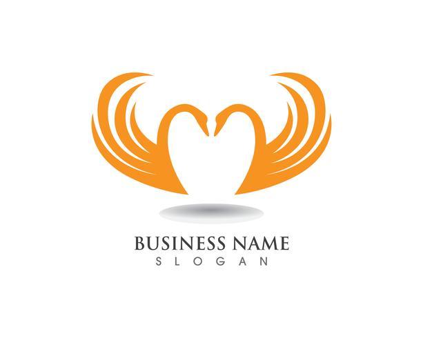 Swan logo sjabloon vector