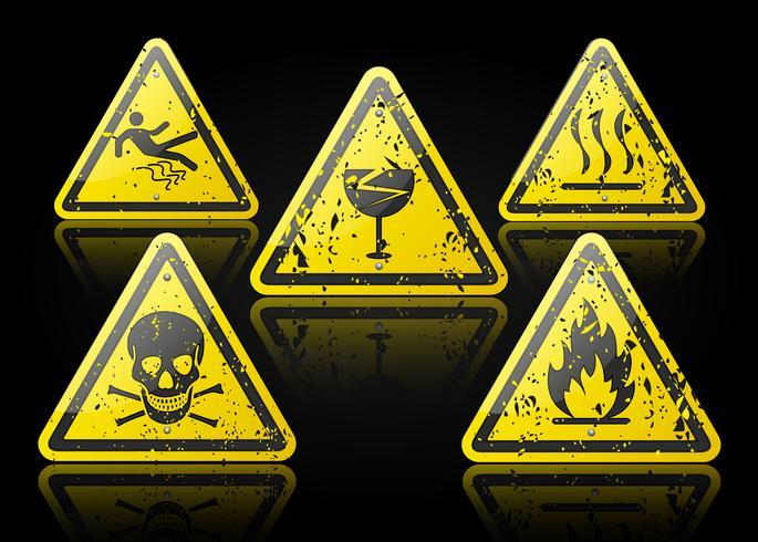 ensemble de signes d'avertissement vecteur
